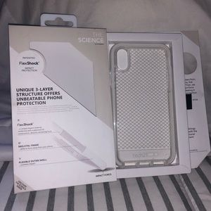 Tech 21 Evo Check Case for iPhone X (White/Clear)